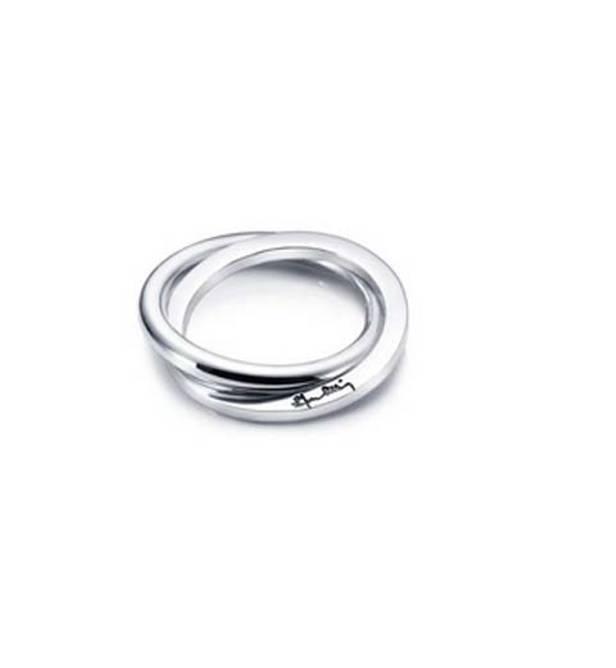 Bilde av Twosome ring, sølv