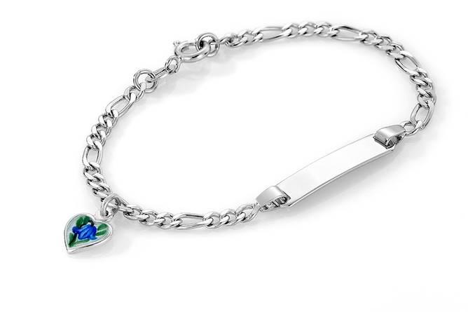 Bilde av Blåklokke hjerte armband