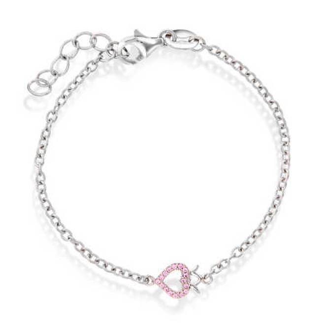 Bilde av Armband i sølv, hjerte med