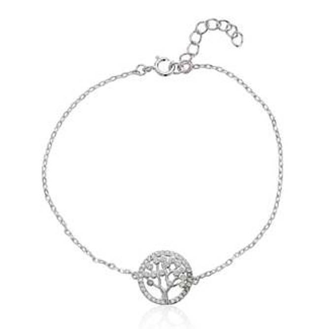 Bilde av Livets tre armbånd, sølv