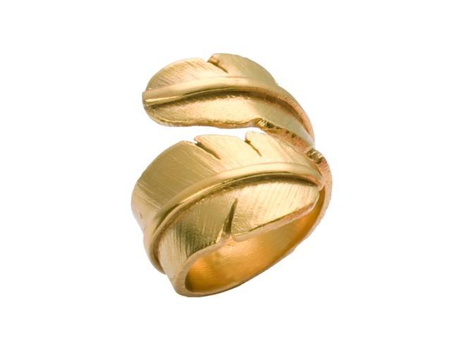 Bilde av Feather ring, forgylt stor