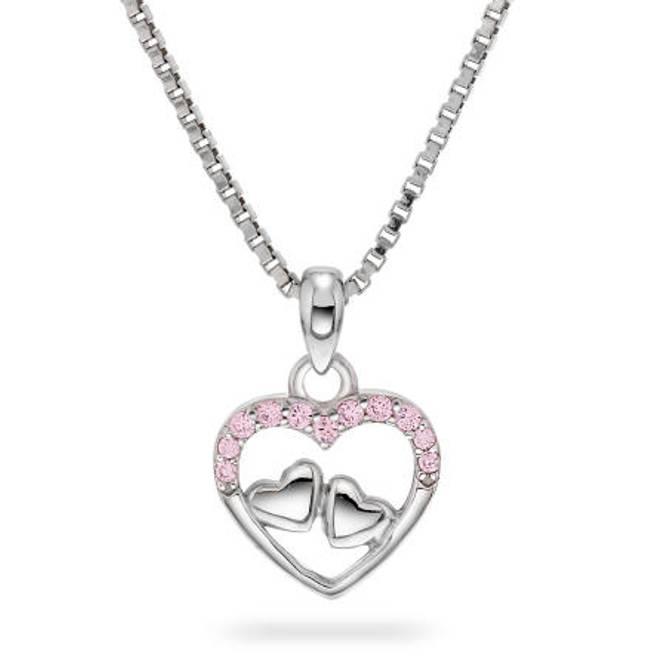Bilde av Smykke i sølv med rosa
