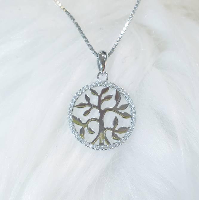 Bilde av  Livets tre smykke, sølv